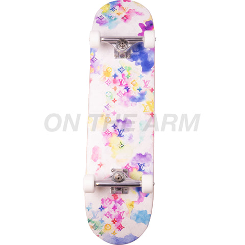 Louis Vuitton Water Color Skate Deck