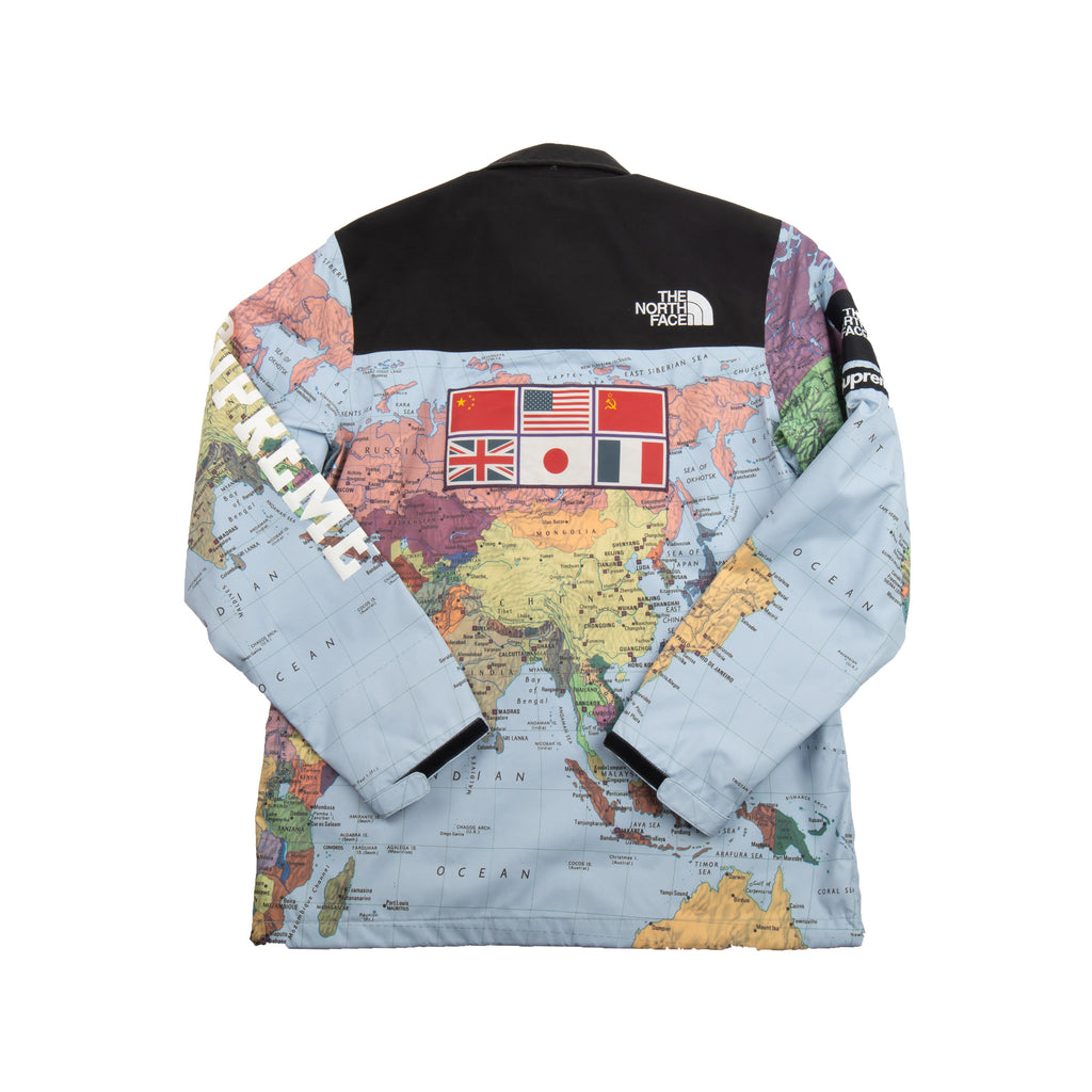 Supreme Maps TNF Expedition Coaches Jacket – On The Arm on