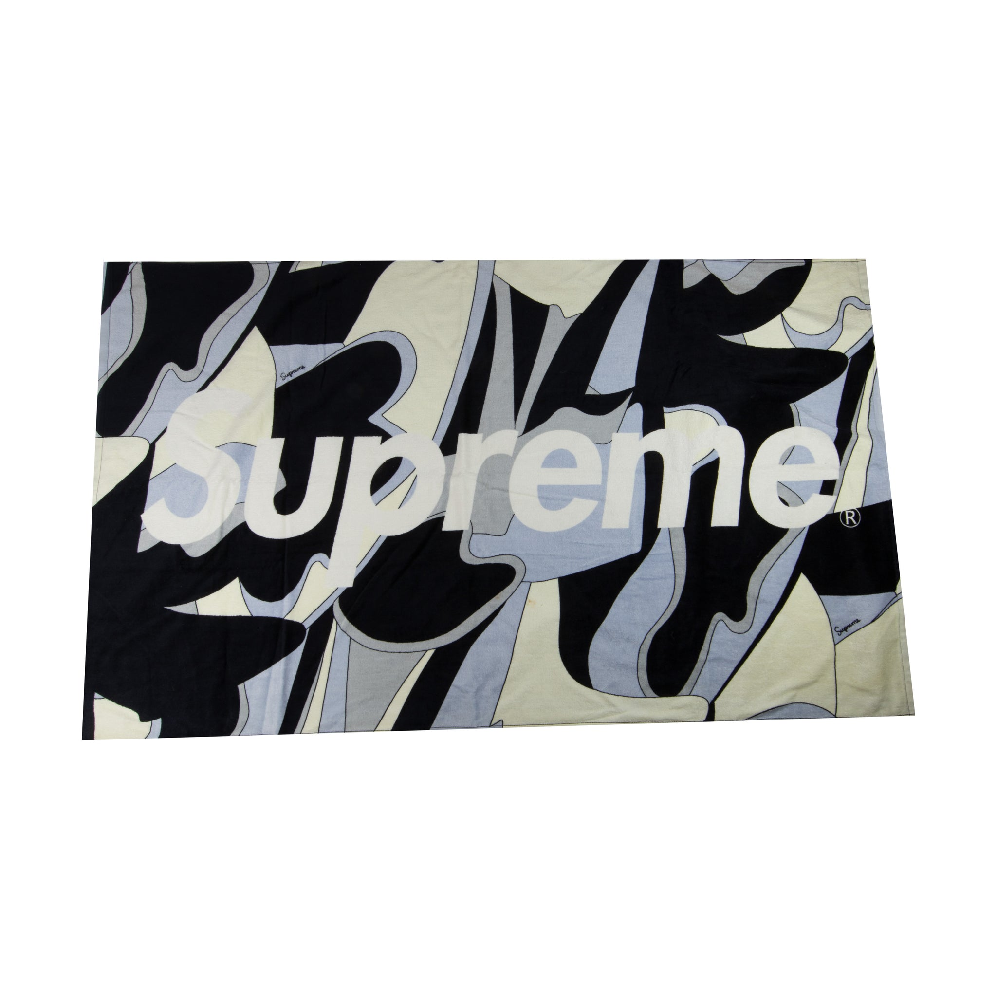 Supreme Black Abstract Beach Towel