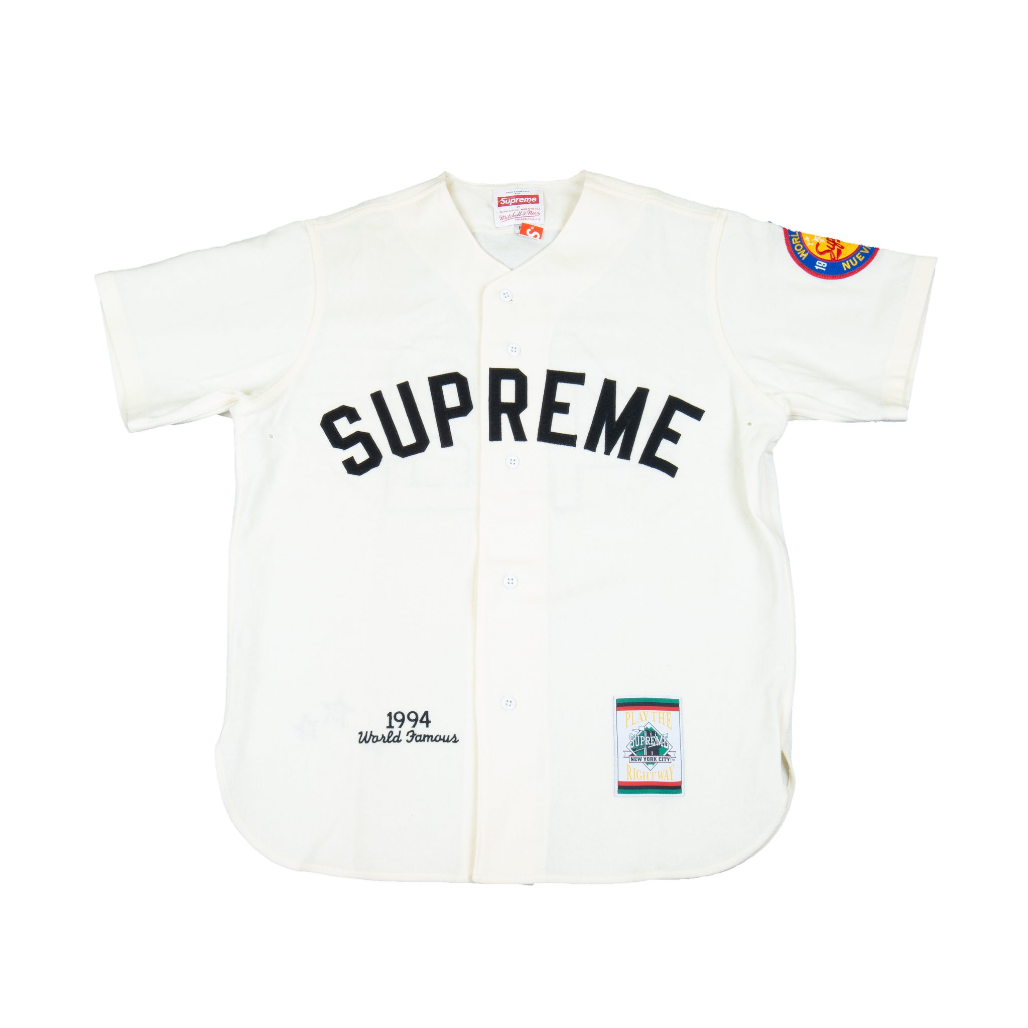 Supreme Natural Mitchell N Ness Baseball Jersey