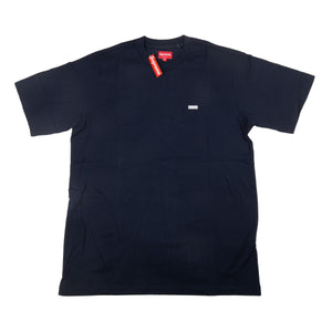 Supreme Navy Reflective Small Box Logo Tee