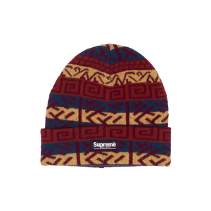 Supreme Navy Brushed Pattern Beanie