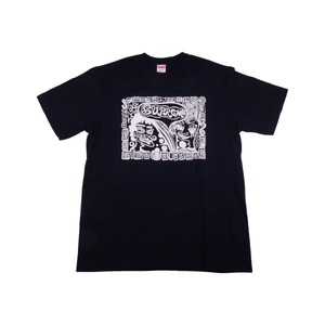 Supreme Navy Faces Tee