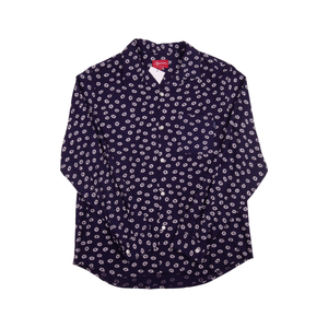 Supreme Navy Flower Shirt