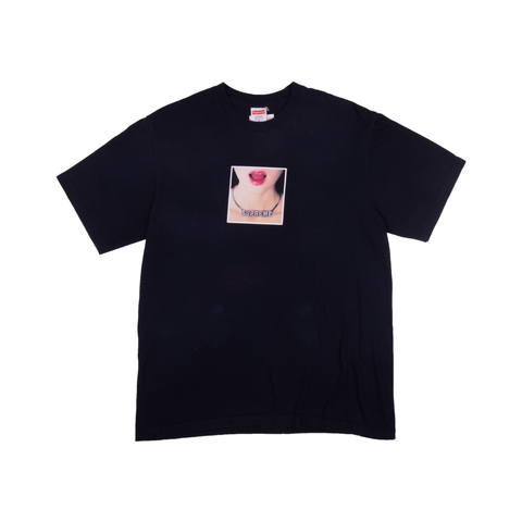 Supreme Navy Necklace Tee