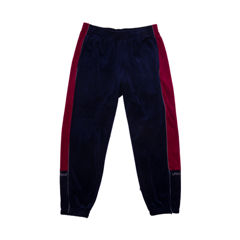 Supreme Navy Velour Track Pants