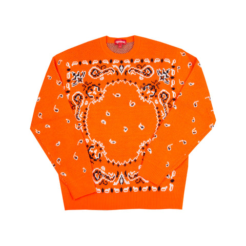 Supreme Orange Bandana Knit Sweater