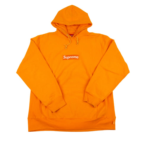 Supreme Orange Box Logo Hoodie