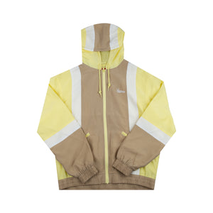 Supreme Pale Yellow Satin Hooded Jacket