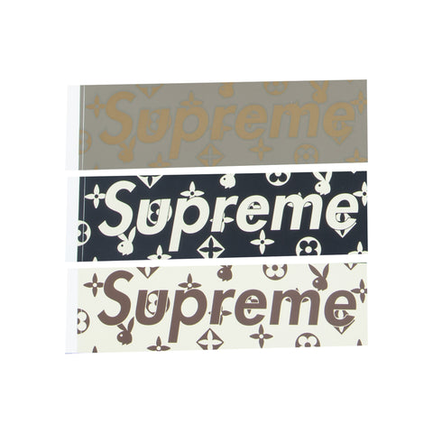 Supreme Louis Vuitton Playboy Monogram Box Logo Stickers