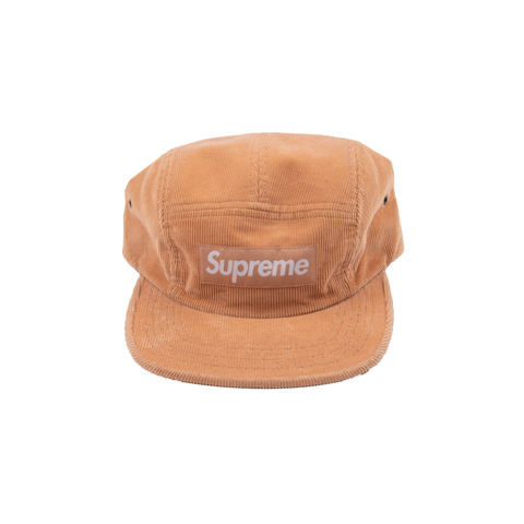 Supreme Peach Corduroy Box Logo Camp Cap