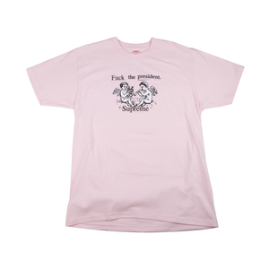 Supreme Pink Fuck The President Tee
