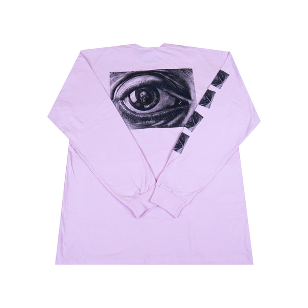 Supreme Pink MC Escher Eyes L/S