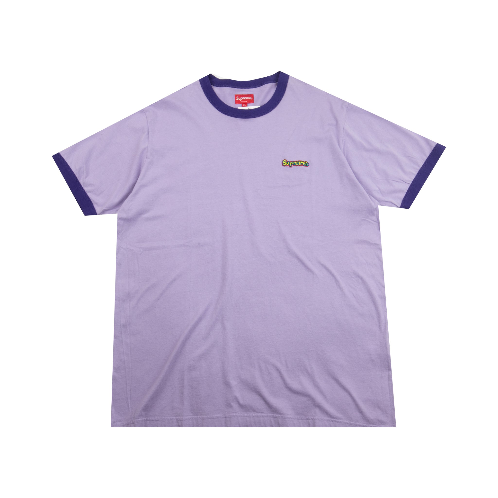 Supreme Purple Ringer Tee
