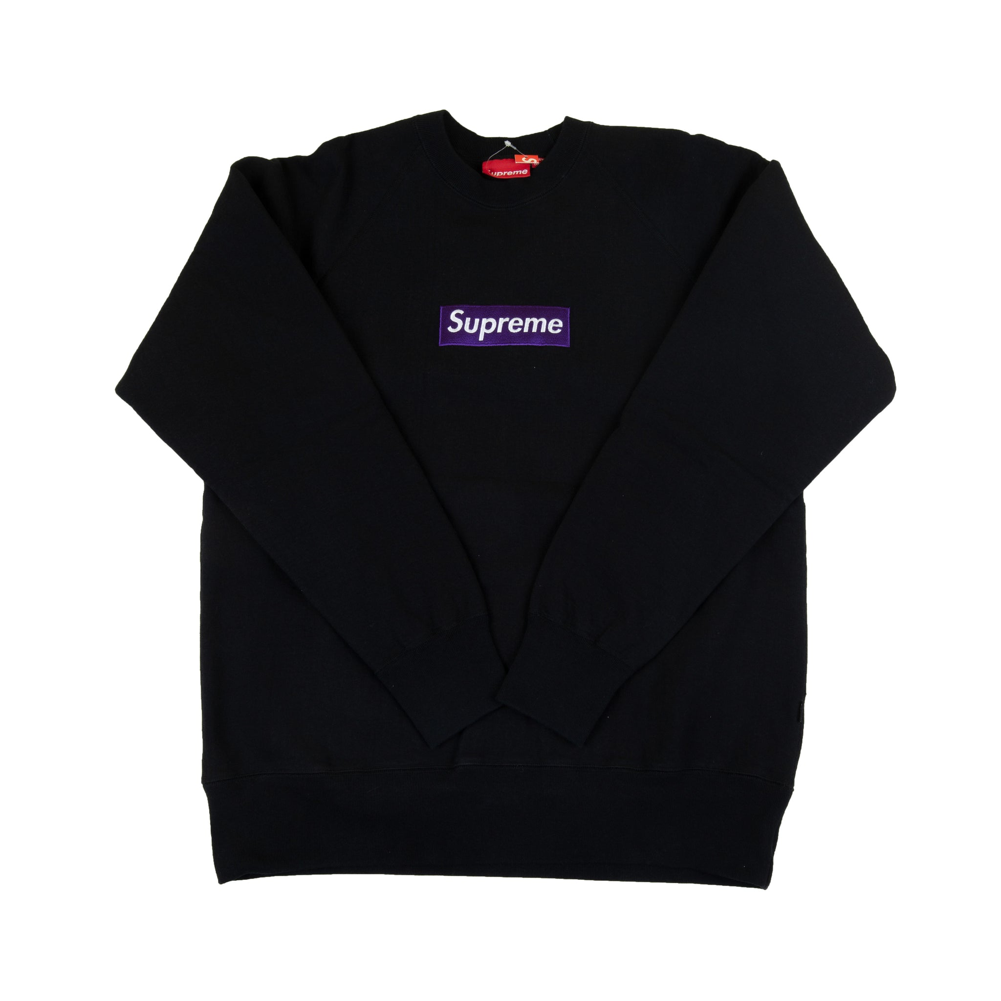 Supreme Black / Purple Box Logo Crew