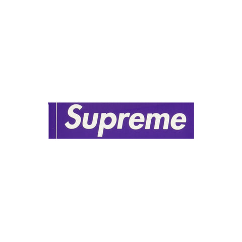 Supreme Purple Box Logo Sticker