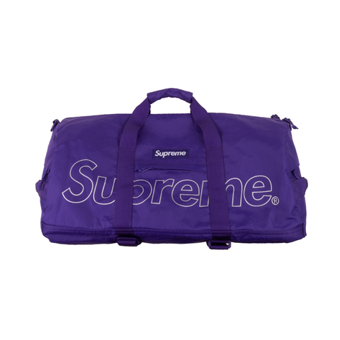 Supreme Purple Duffle Bag