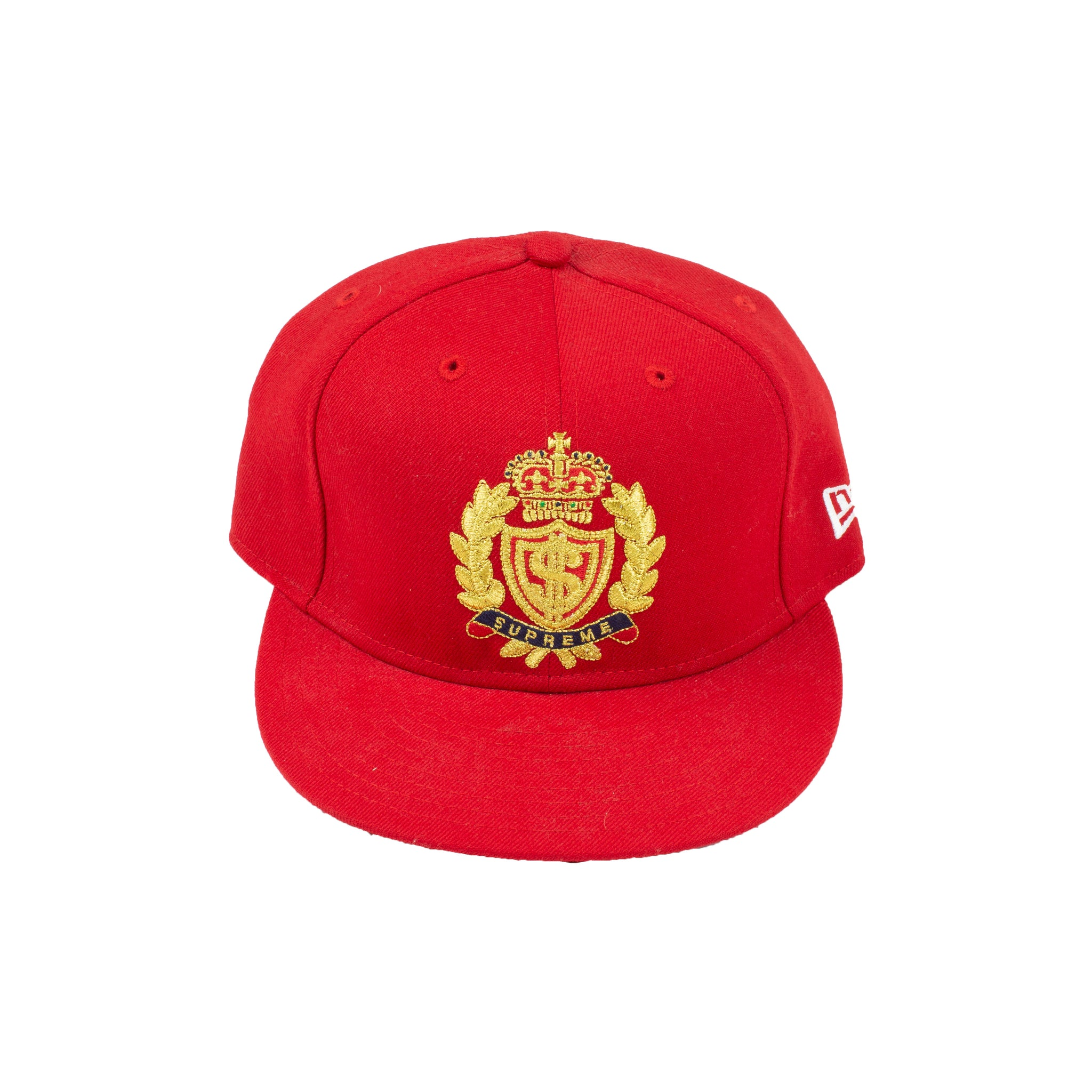 Supreme Red Crest New Era Fitted Hat