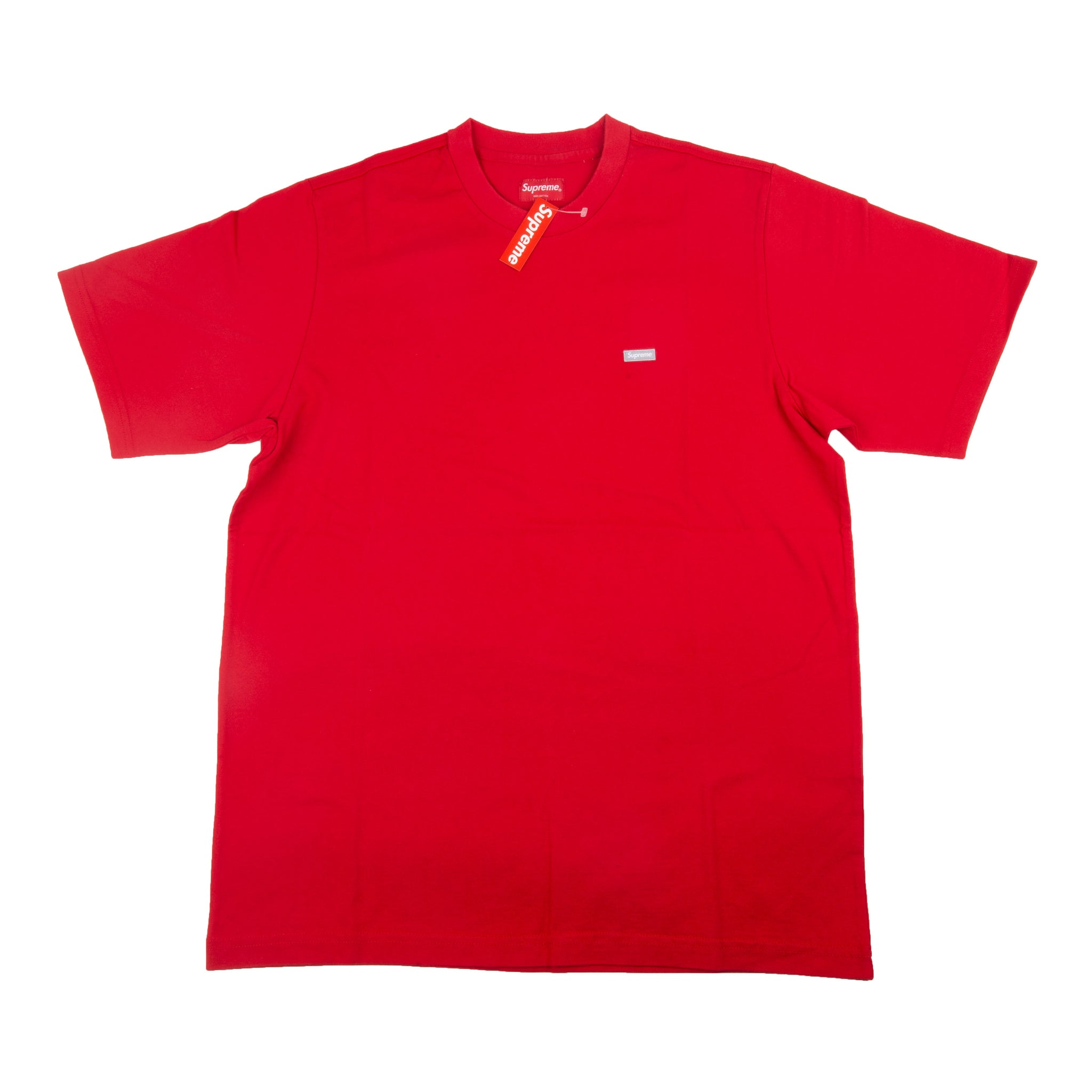 ed42b8ad45a3 Supreme Red Reflective Small Box Logo Tee – On The Arm
