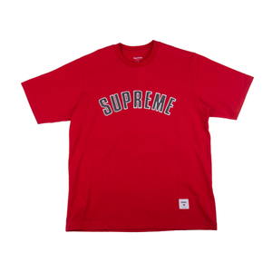 Supreme Red Printed Arc Logo Top