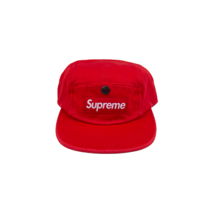 Supreme Red Snap Button Pocket Camp