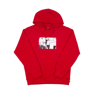 Supreme Red Classic Ad Hoodie