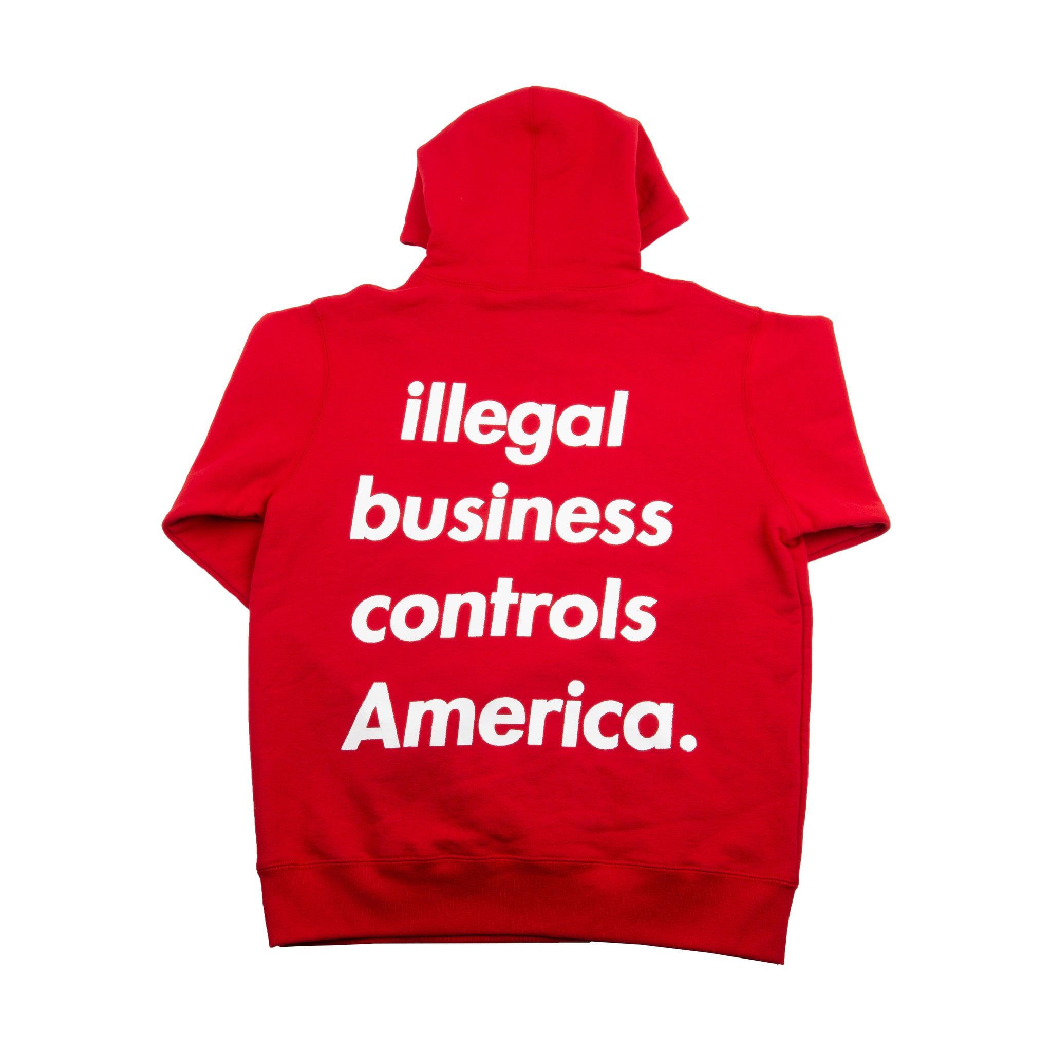 Supreme Red Illegal Business Hoodie