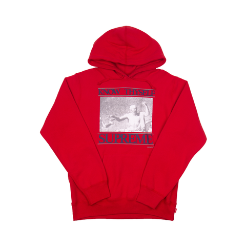 Supreme Red Know Thy Self Hoodie