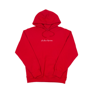 Supreme Red Le Luxe Hoodie