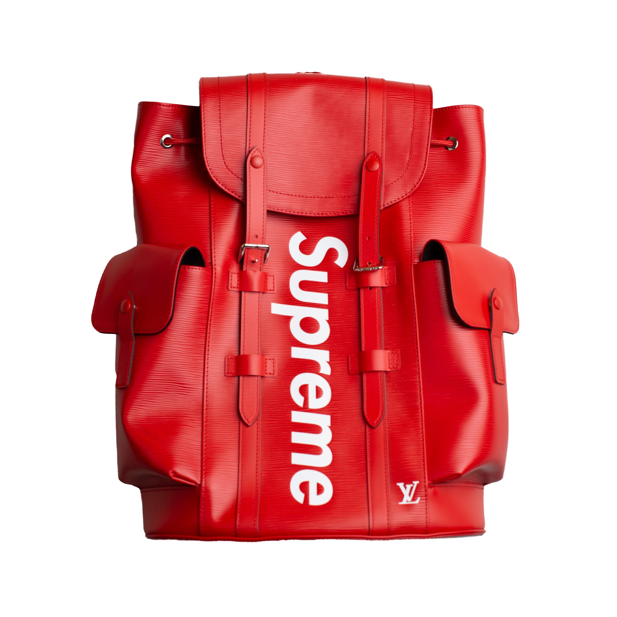 Supreme Red Louis Vuitton Christopher Backpack