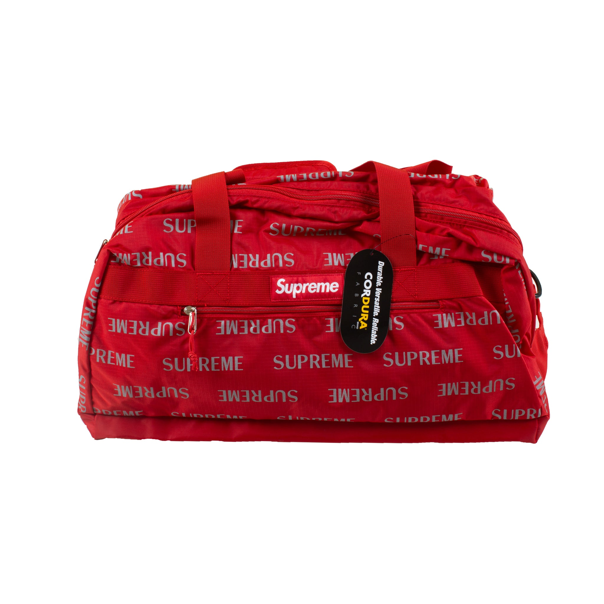 Supreme Red Repeat Duffle Bag