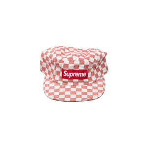Supreme Red Checkered Camp Cap