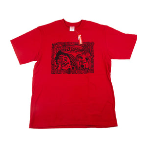 Supreme Red Faces Tee