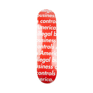 Supreme Red Illegal Business Deck