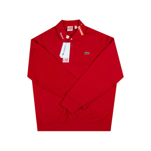 Supreme Red Lacoste Jersey Polo