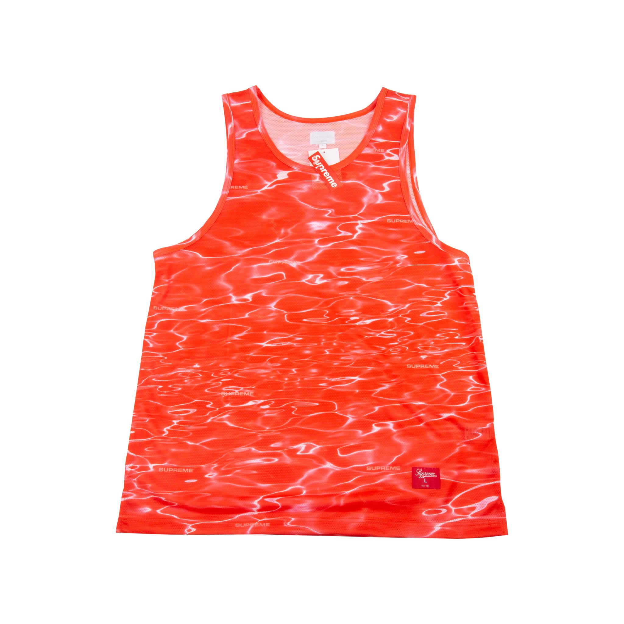 Supreme Red Ripple Tank Top