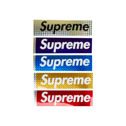 Supreme Reflective Box Logo Stickers