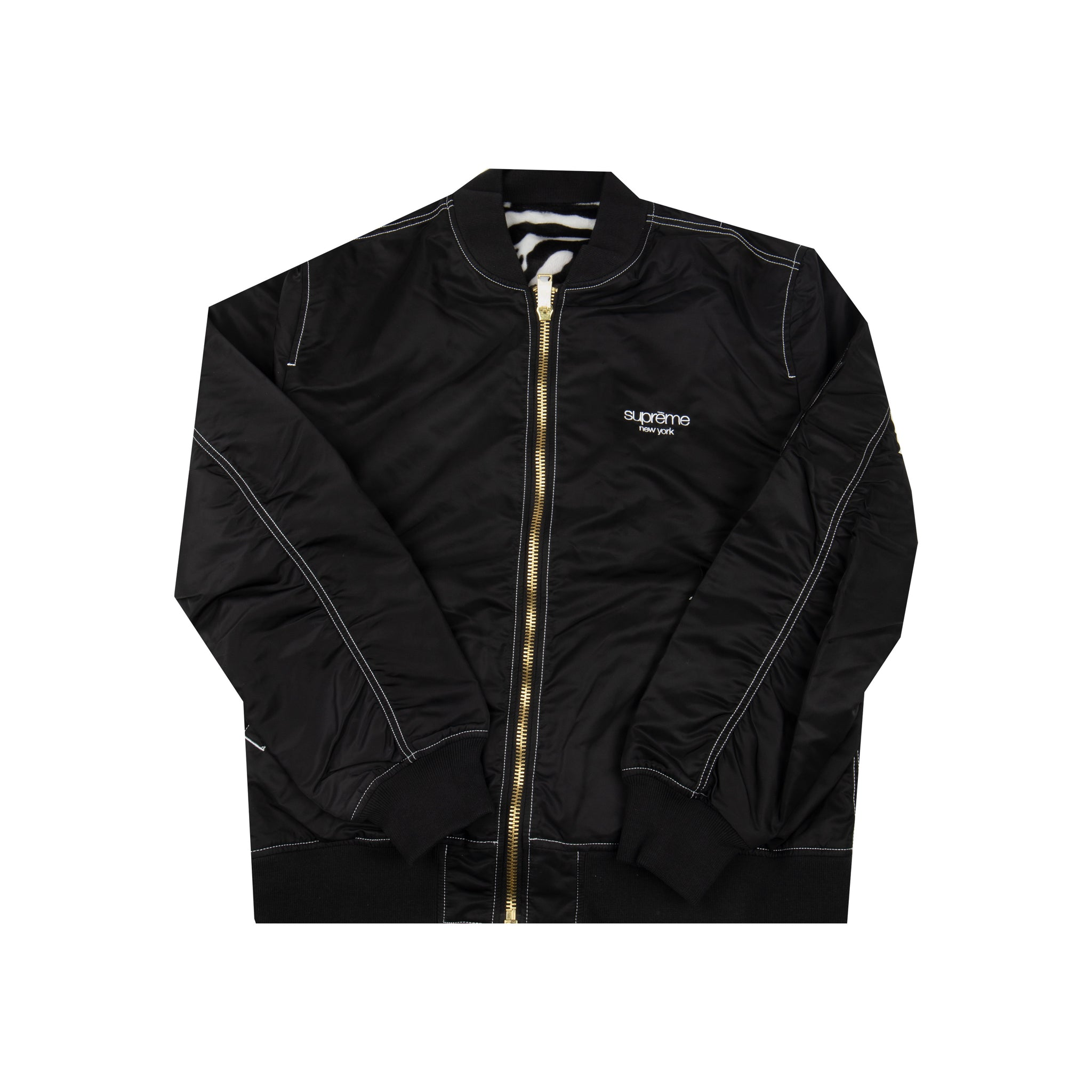 Supreme Black Reversible MA-1 Jacket
