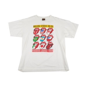 The Rolling Stones White 1994 Voodoo Lounge Tee