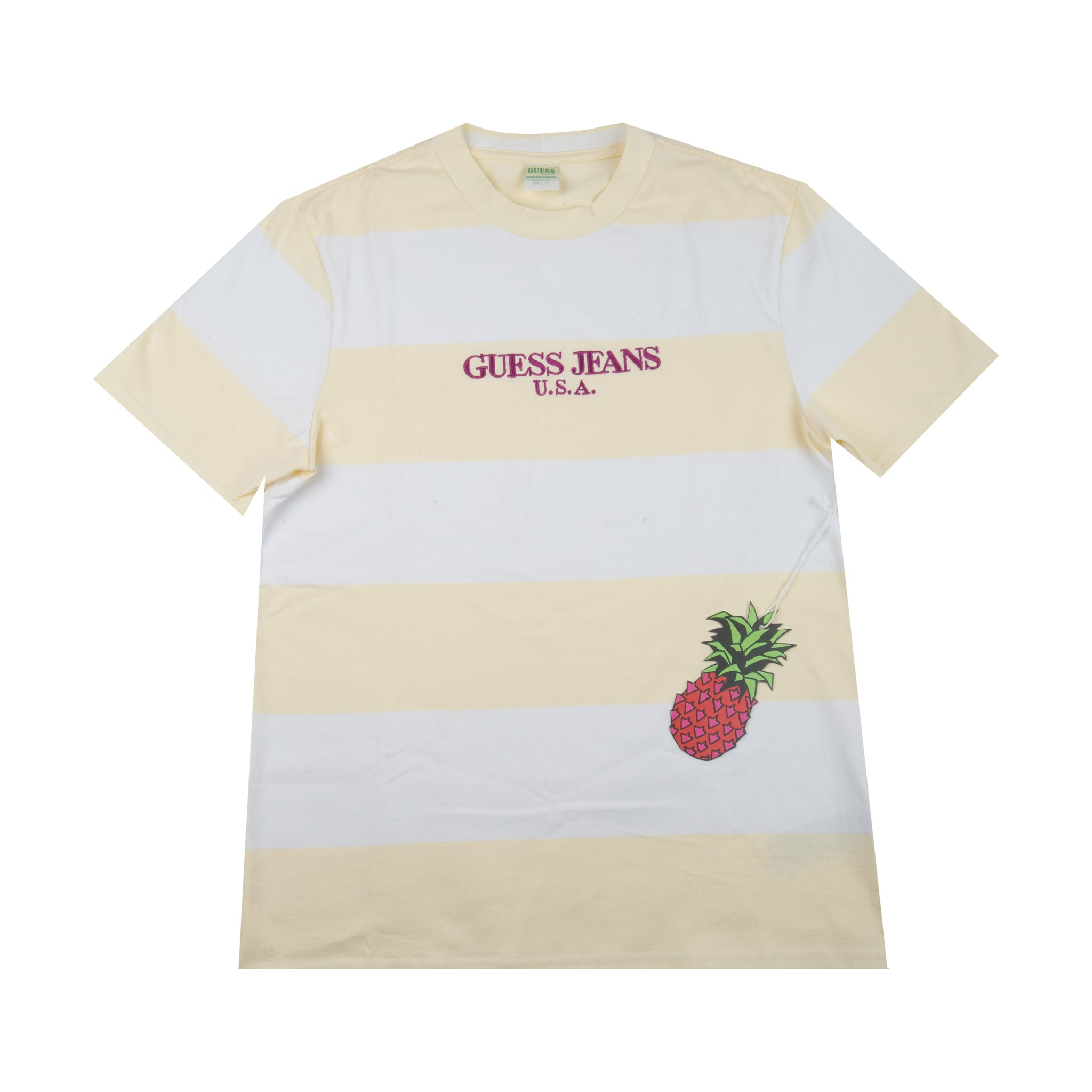 Guess Jeans Winter White Rugby Striped Tee