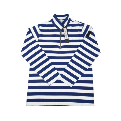 a375a7aaab Supreme White Stone Island Striped Quarter Zip Top