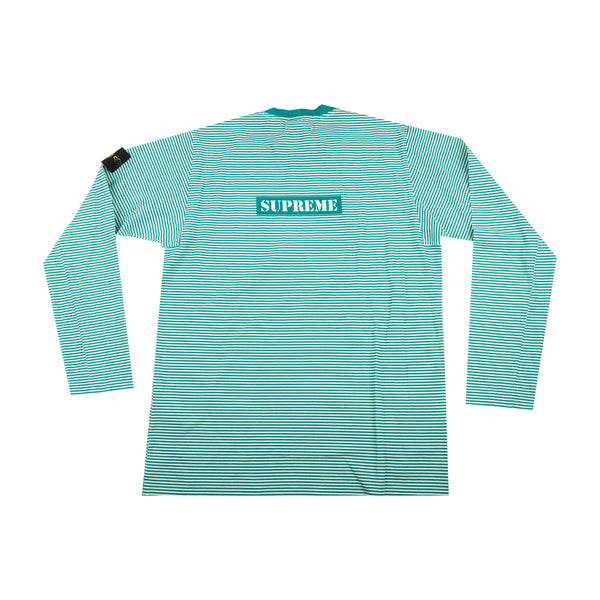 Supreme Green Stone Island Striped L/S