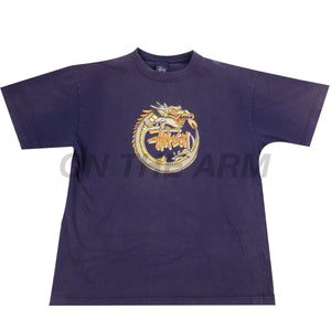 Stussy Navy Dragon Tee USED