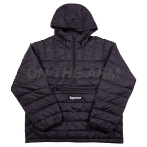 Supreme Black Micro Half Zip Puffy Jacket