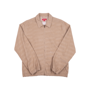 Supreme Tan Debossed Logo Corduroy Jacket