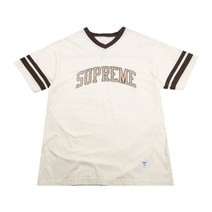Supreme Tan Glitter Arc Logo Football Top