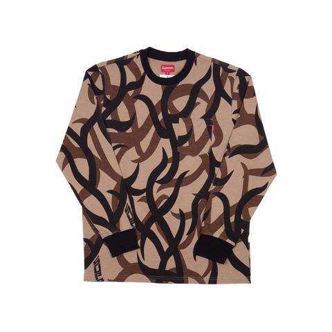Supreme Tan Tribal L/S Pocket Tee