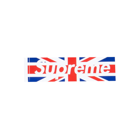 Supreme Union Jack Box Logo Sticker