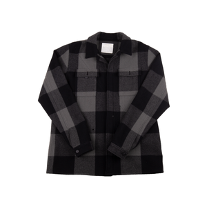 Undercover AW10 Black/Grey Plaid Wool Jacket