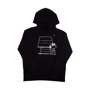 Uniqlo x Kaws White Dog House Black Hoodie